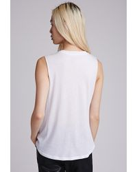 Forever 21 - White Positive Muscle Tee You've Been Added To The Waitlist - Lyst