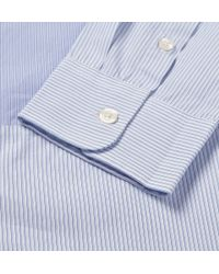 PS by Paul Smith Blue Slim-Fit Striped Cotton Shirt for men