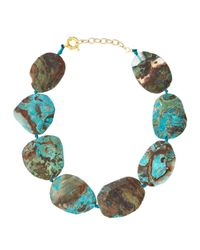 Panacea | Brown Blue Jasper Collar Necklace | Lyst