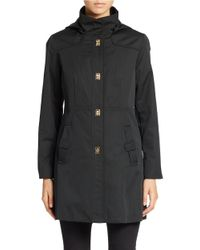 Jones New York | Black Fitted Water-resistant Coat | Lyst