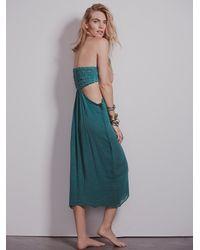 Free People - Green Jen S Pirate Booty For Womens Smocked Drape Dress - Lyst