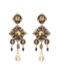 Erickson Beamon Metallic Marchesa Crystal & Gold-Plated Earrings