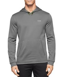 Calvin Klein | Gray Performance Fleece Hoodie for Men | Lyst