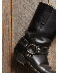 Free People - Black Vintage Engineer Boots - Lyst