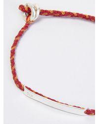 "Scosha | 1.2"" Id Bar Braided Bracelet Red & Orange for Men | Lyst"