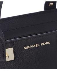 MICHAEL Michael Kors   Black Quinn Small Satchel Bag   Lyst
