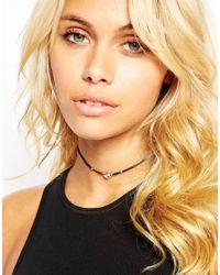 ASOS | Metallic Mini Jewel Double Choker Necklace | Lyst