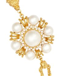Ben-Amun - Metallic Gold-Tone Faux Pearl Necklace - Lyst