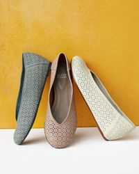 Eileen Fisher - Patch Perforated Ballerina Flat White - Lyst