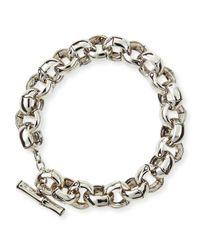 John Hardy | Metallic Bamboo Silver Small Rolo Link Bracelet for Men | Lyst