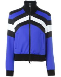 MSGM | Blue Panelled Zip Jacket | Lyst