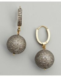 Amrapali - Metallic Diamond and Gold Sphere Drop Earrings - Lyst