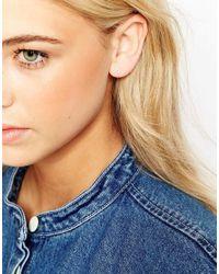 Dogeared Metallic Sterling Silver Open Triangle Stud Earrings