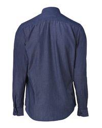 Etro Blue Cotton Denim Shirt for men