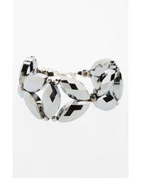 Panacea | Metallic 'silver Marquis' Bracelet | Lyst
