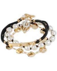 Robert Lee Morris | Metallic Gold-tone 3 Bracelet Set | Lyst