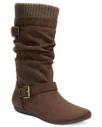 Report | Brown Everton Slouchy Sweater Boots | Lyst
