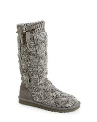 879466a833e Lyst - UGG 'mahalya' Knit Boot in Gray
