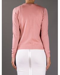Boutique Moschino - Pink Pearl Button Cardigan - Lyst