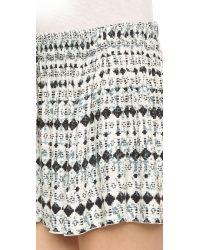 Ella Moss Black Cortez Mini Shorts - Indigo