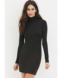 Forever 21 | Black Classic Turtleneck Dress | Lyst