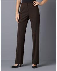Lafayette 148 New York Brown Menswear Inspired Pants