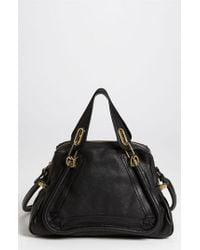 Chloé | Black 'paraty - Medium' Leather Satchel | Lyst
