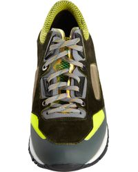 Lanvin - Yellow Reflective Trim Low Top Sport Sneaker for Men - Lyst
