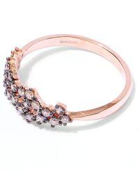 Suzanne Kalan Pink Rose Gold Champagne Diamond Starburst Ring