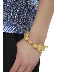 Valentino Metallic Gemini Gold Tone Zodiac Bracelet