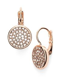 Anne Klein | Metallic Pave Drop Earrings | Lyst