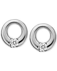 Skagen - Metallic Elin Silver-tone Circle Stud Earrings - Lyst