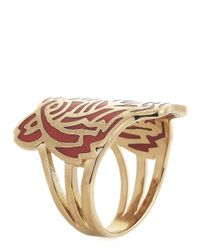 KENZO | Metallic Gold Plated Tiger Ring | Lyst