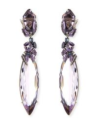 Alexis Bittar Fine | Gray 2-Drop Amethyst Cluster Earrings | Lyst