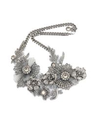 Alexander McQueen - Multicolor Jewelled Floral Necklace - Lyst