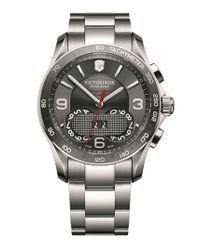 Victorinox - Metallic 'chrono Classic' Bracelet Watch for Men - Lyst