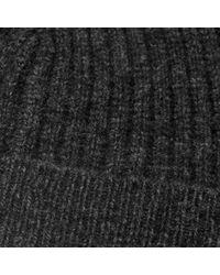 Reiss   Gray Noah Ribbed Beanie Hat for Men   Lyst