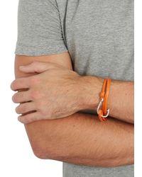 Miansai - Orange Hook Leather Wrap Bracelet for Men - Lyst
