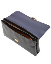 Lanvin - Black Jeanne Bicolour Leather Bag for Men - Lyst