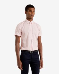 Ted Baker - Red Tile Print Shirt for Men - Lyst