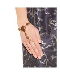 Oscar de la Renta Multicolor Mosaico Swarovski Crystal-Embellished Finger Bracelet