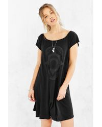 Truly Madly Deeply Black Mystic Fortune Swingy T-Shirt Dress