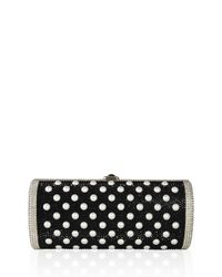 Judith Leiber Couture - Red Cylinder Crystal Clutch Bag - Lyst
