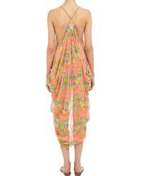 Mara Hoffman - Orange Garland-patterned Draped Coverup - Lyst