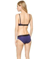 Calvin Klein Purple Dual Tone Convertible Natural Lift Tshirt Bra Classic Indigoblack