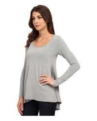 Karen Kane | Gray Seam Detail Sweater | Lyst