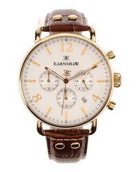 Earnshaw Brown Wrist Watch