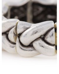 Philippe Audibert - Metallic Braided Bracelet - Lyst