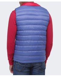La Martina | Blue Logo Down Gilet for Men | Lyst
