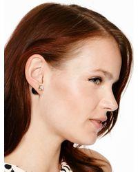 kate spade new york - Black Dainty Sparklers Reversible Earrings - Lyst